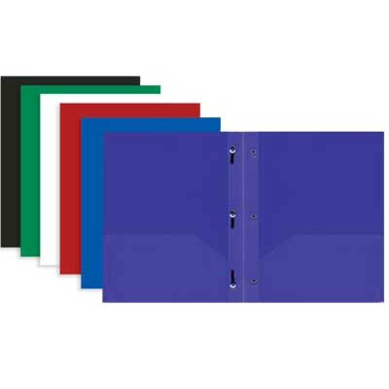 Plastic Pocket and Prong Folders Bulk | Student Stores Max ...