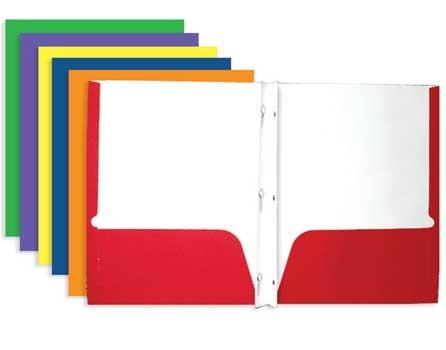 Pocket Amp Prong Paper Folders Bulk Student Stores Max L