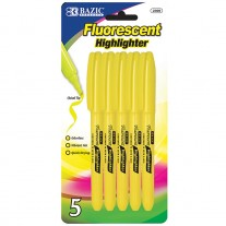 Bazic Yellow Pocket Highlighters