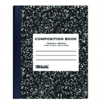 Bazic Black Marble Comp Books- Wide Rule