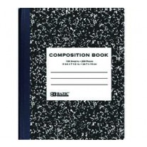 Bazic Black Marble Comp Books- College Rule