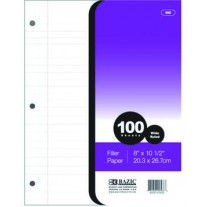 Bazic 100Ct Filler Paper - Wide Rule