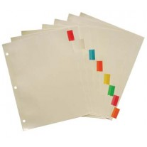 Bazic 8 Tab Looseleaf Index Dividers