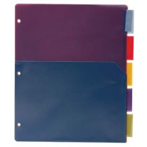 Bazic 5 Tab Poly Binder Pockets