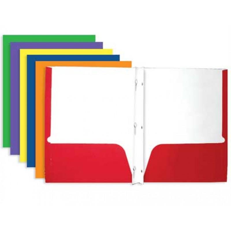 Pocket & Prong Paper Folders Bulk