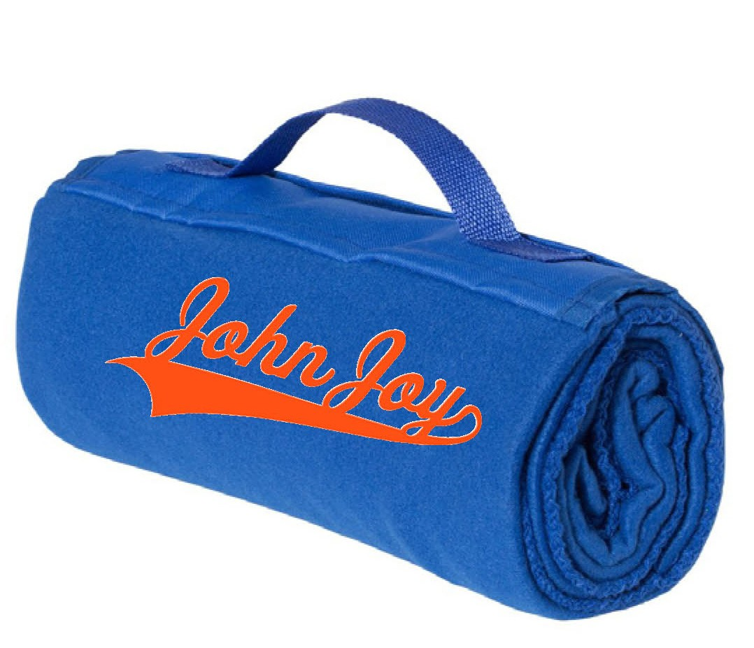 John Joy Embroidered Alpine Fleece Blanket