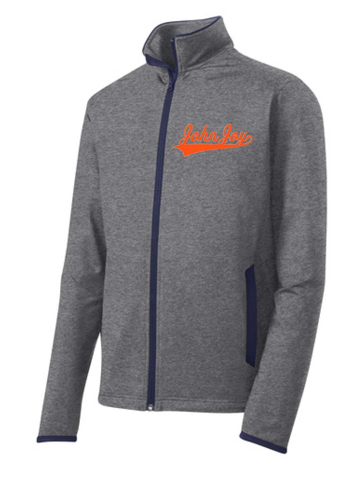 John Joy Swoosh Sport Tek Sport Wick Full Zip Jacket