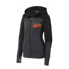 John Joy Swoosh Ladies Sport-Tek Colorblock Full Zip Hooded Jacket