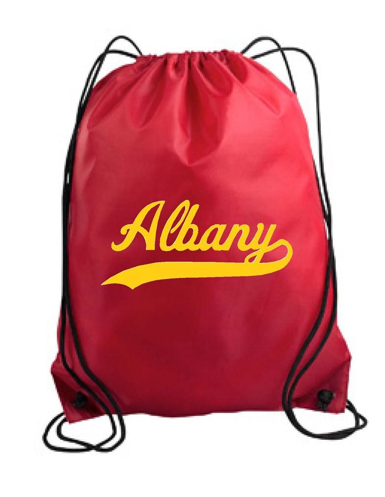 Albany Swoosh Drawstring Backpack