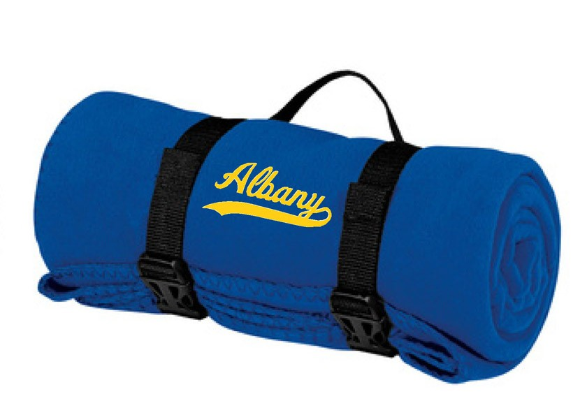 Albany Swoosh Fleece Blanket With Carry Strap