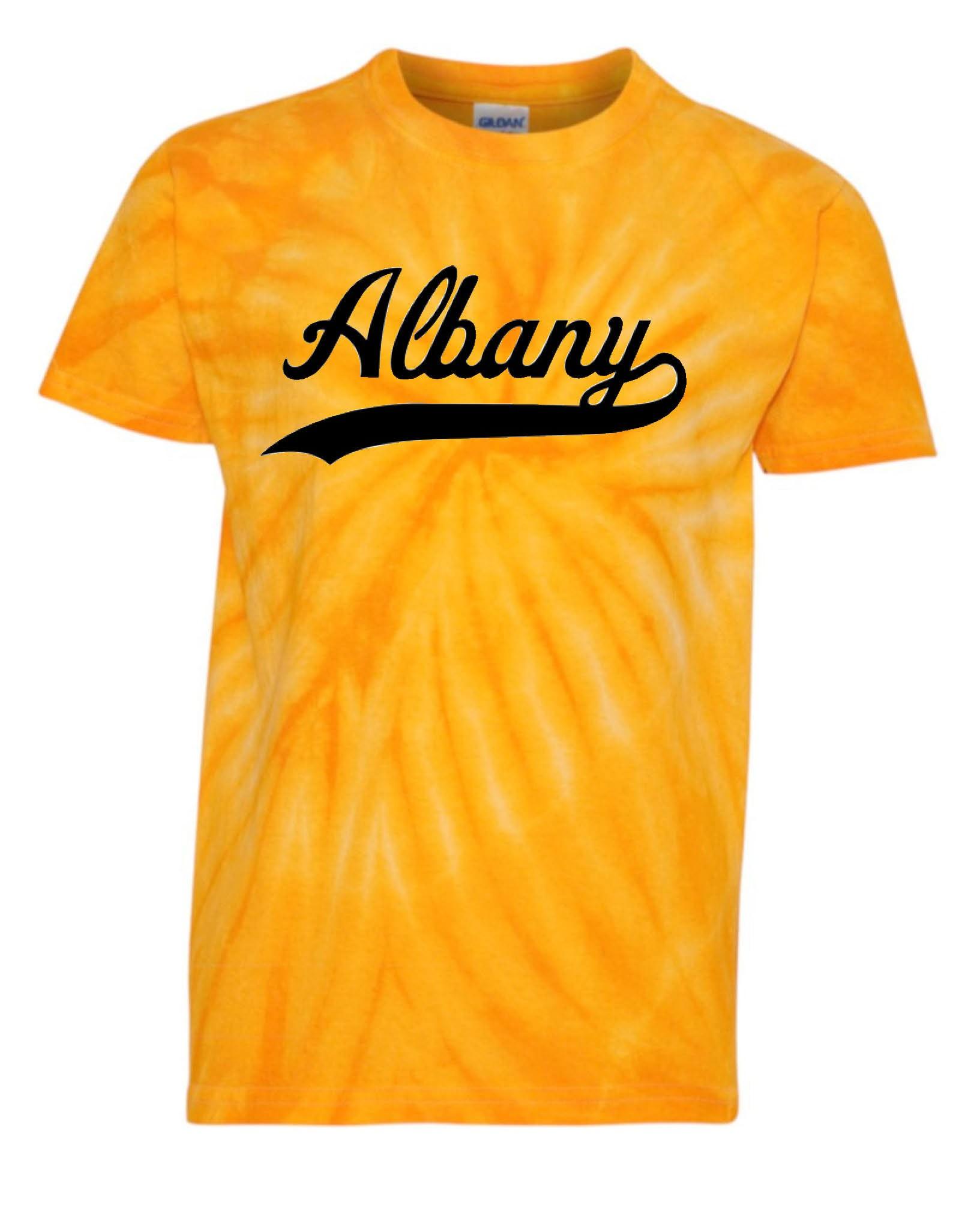 Albany Swoosh Tye Dye T Shirts