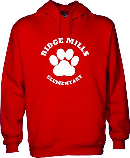 Ridge Mills Paw Pullover Hoodie