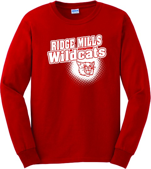 Ridge Mills Wildcats Long Sleeve Tee