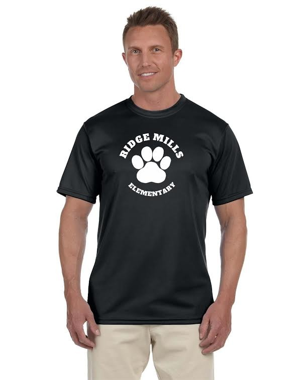 Ridge Mills Paw Men's Moisture Wicking T-Shirt