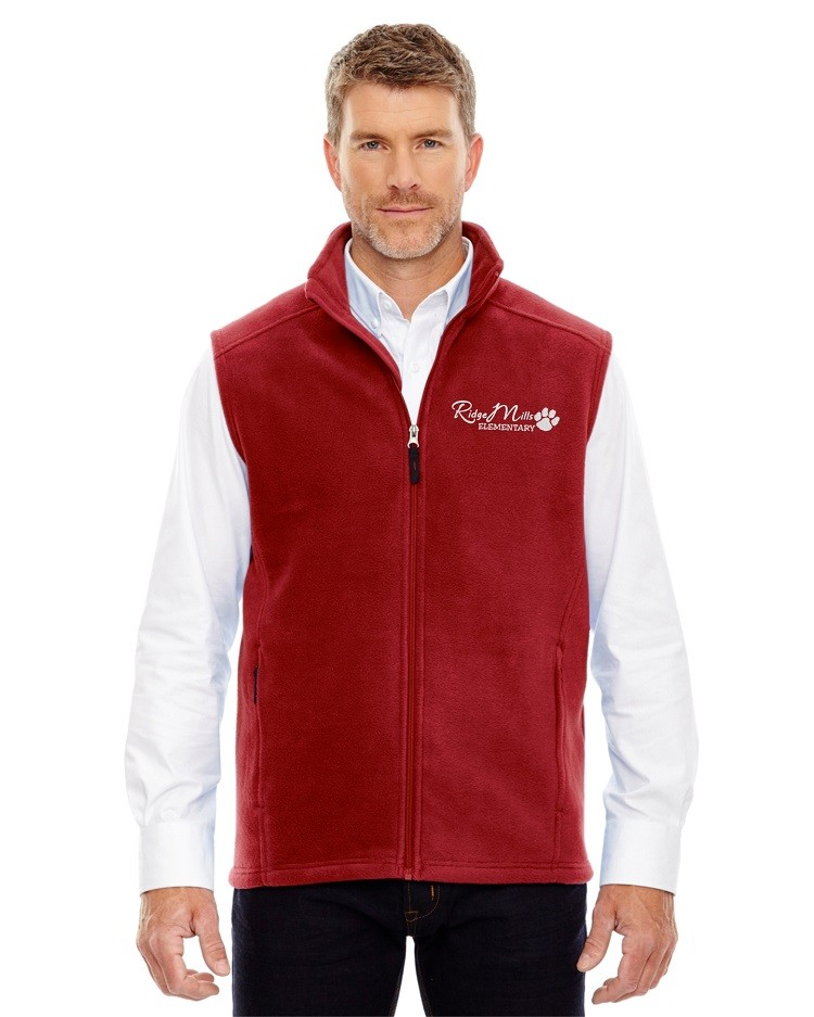 Ridge Mills Paw Print Fleece Vest