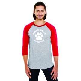 Ridge Mills Paw 3/4 Sleeve Baseball Tee