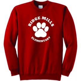 Ridge Mills Paw  Fleece Sweatshirt