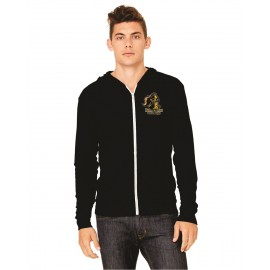 Holland Patent Golden Knights Youth Gildan Zip Up Hoodie