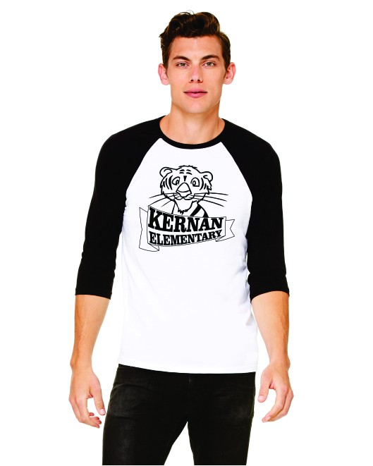 Kernan Tigers 3/4 Sleeve Baseball Tee