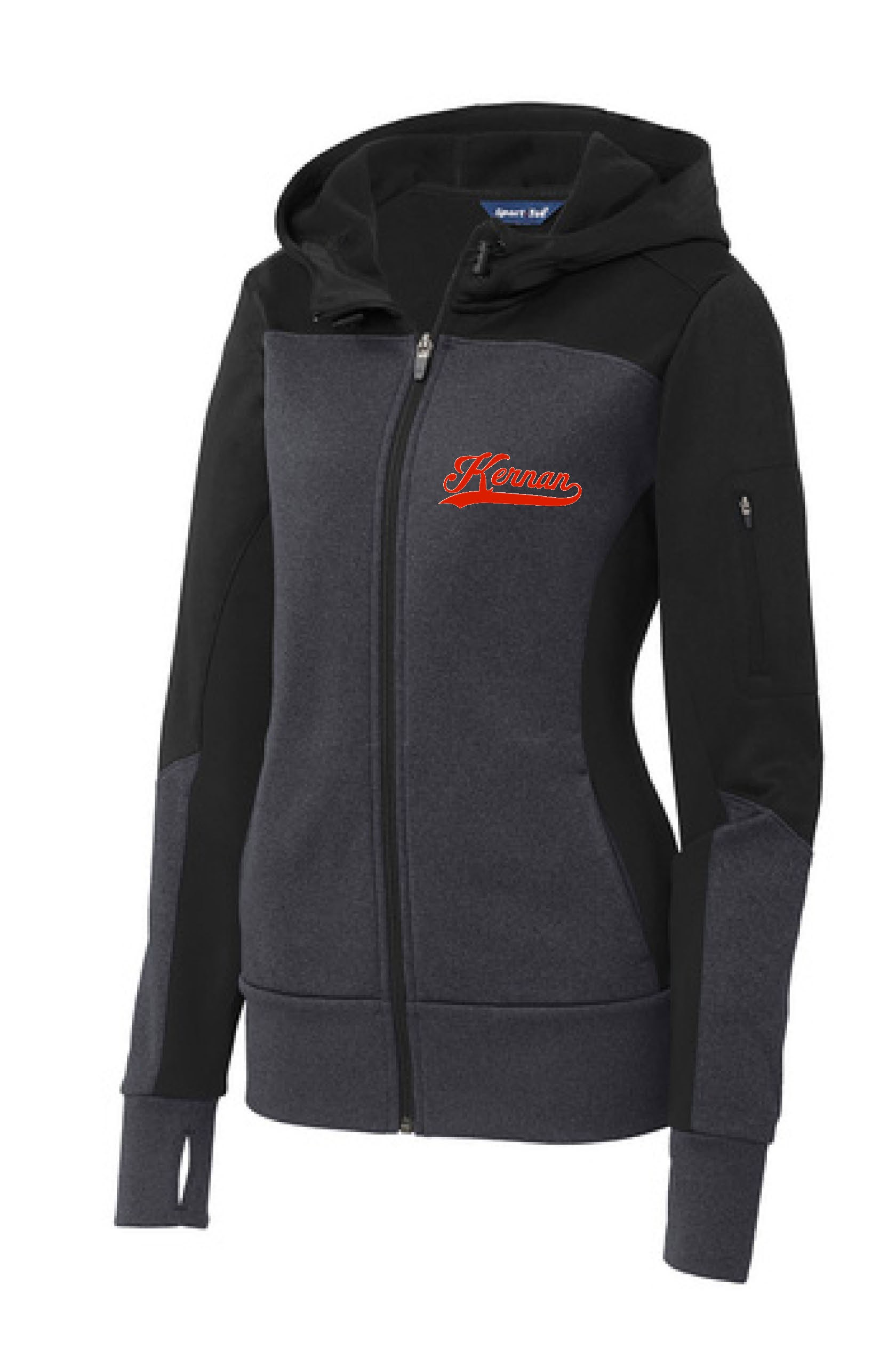 Kernan Ladies Sport-Tek Colorblock Full Zip Hooded Jacket