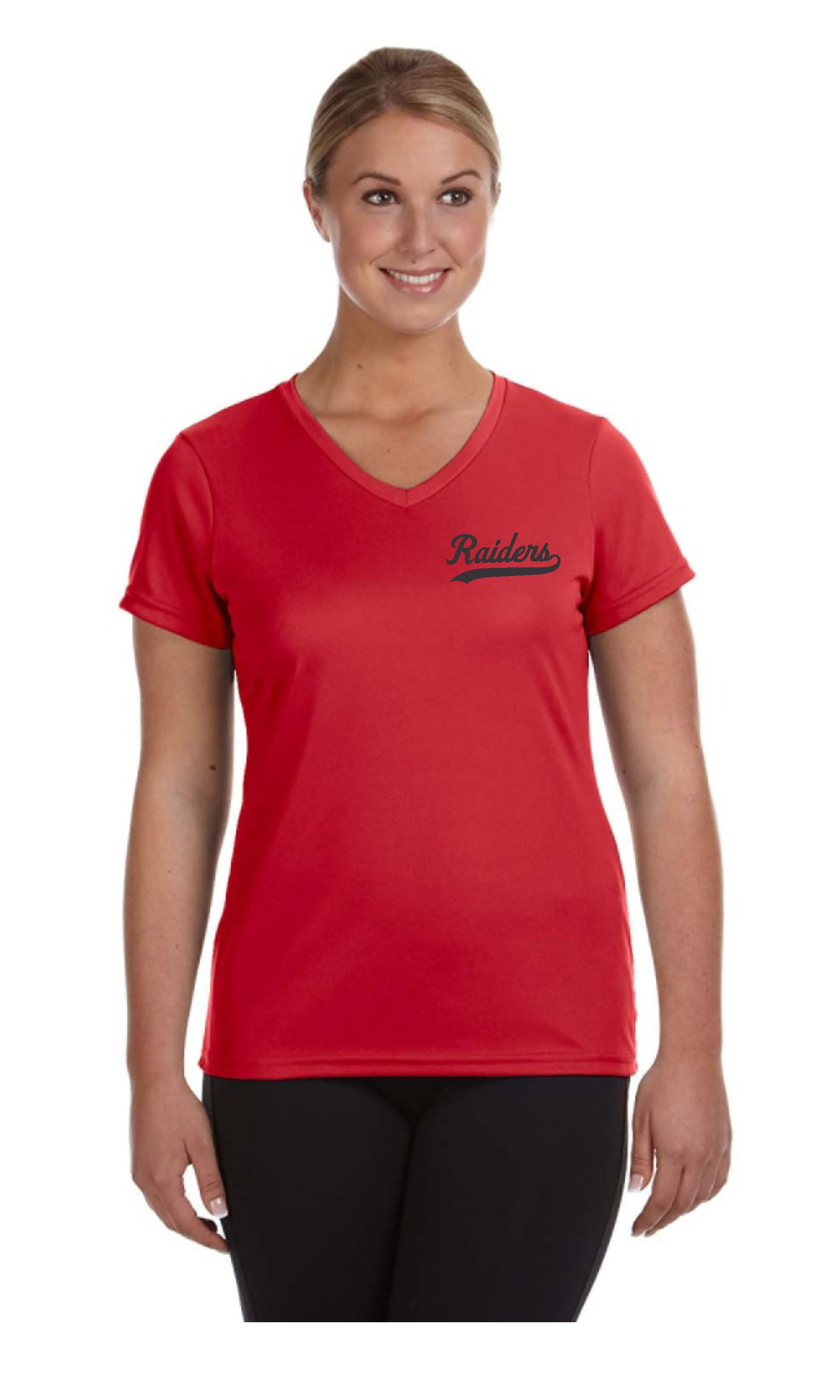 Raiders Ladies Dry Fit V Neck Tees