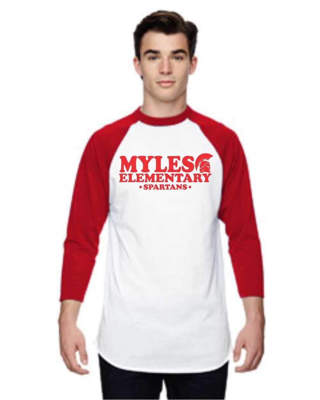 Myles Elementary 3/4 Sleeve Baseball Tee