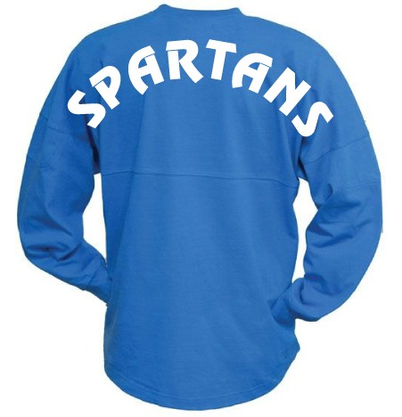 Pennant Billboard Crew Shirt - Spartans Block Logo
