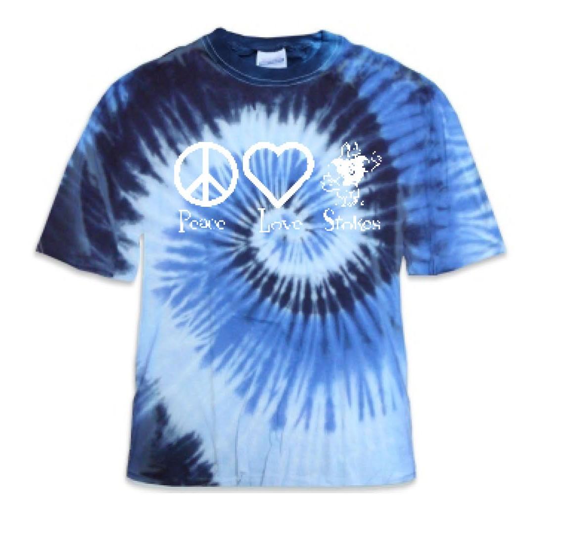 Stokes Peace & Love Tye Dye Shirts