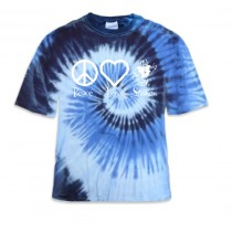 Stokes Peace & Love Tye Dye Shirts