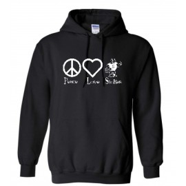 Stokes Peace & Love Pullover Hoodies