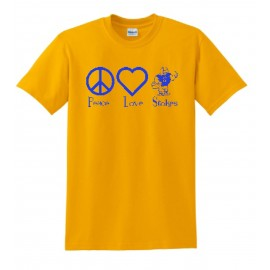 Stokes Peace and Love Bella-Canvas Soft Style Tees