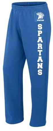 New Hartford Spartans Open Bottom Sweatpants