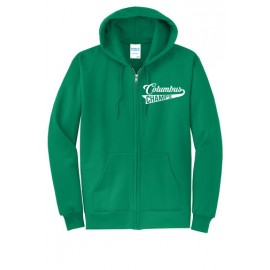 Columbus Swoosh Bella Canvas Zip Up Hoodie