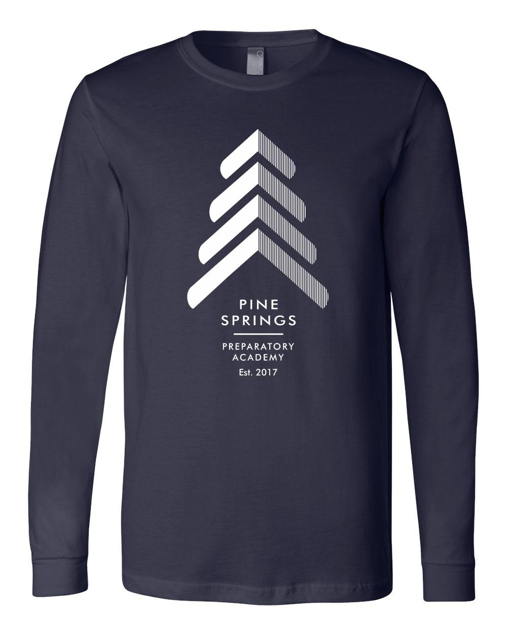 Pine Springs Adult Soft Spun Cotton Long Sleeve Tees