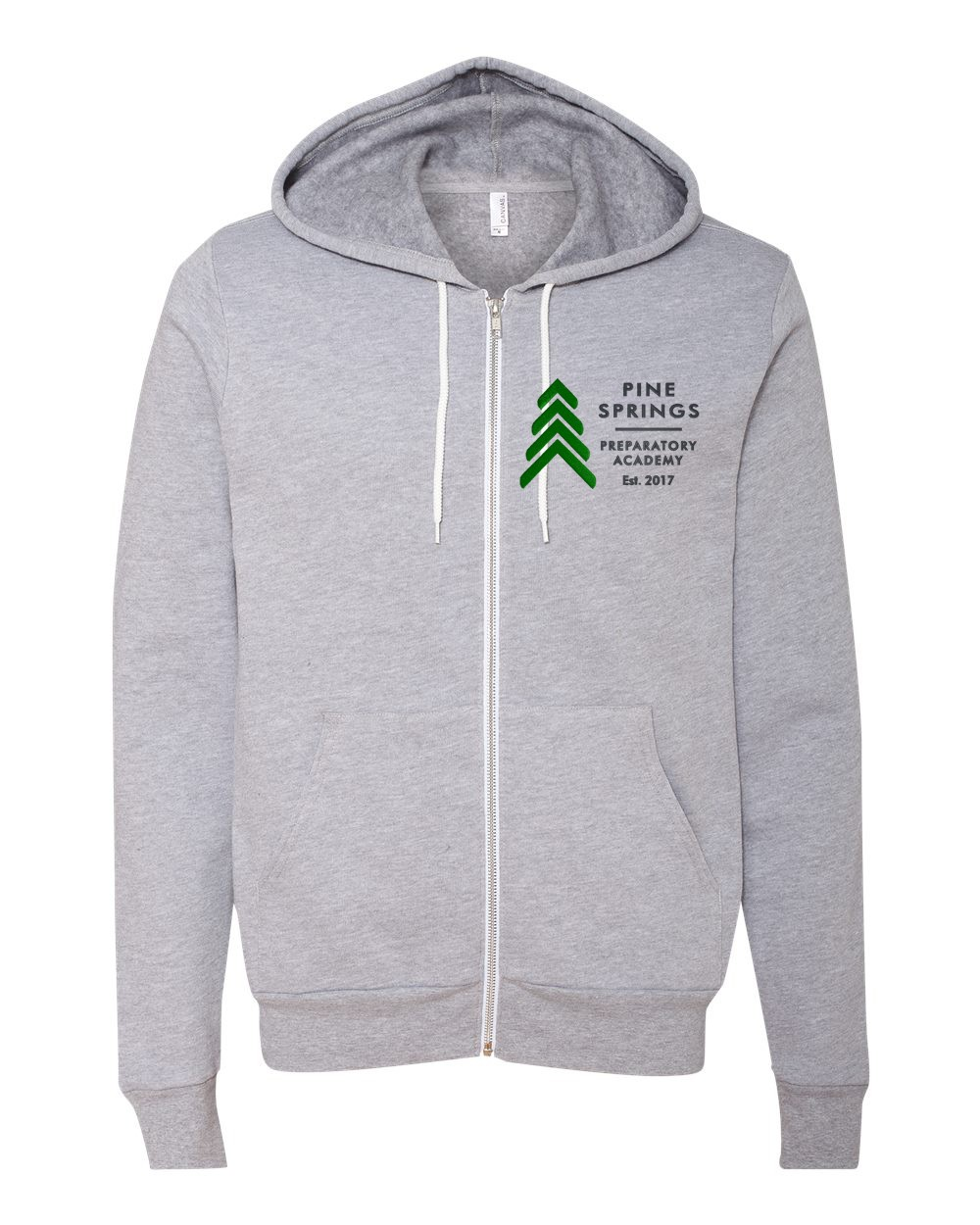 Pine Springs Soft Spun Cotton Zip Up Embroidered Hoodies