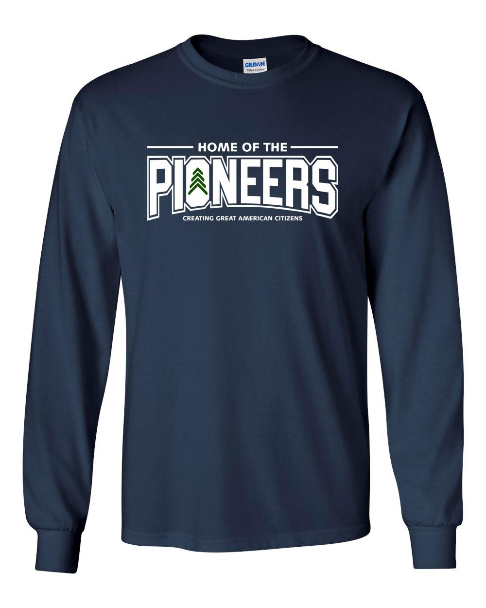 Pioneers 100% Pre-Shrunk Cotton Long Sleeve Tees