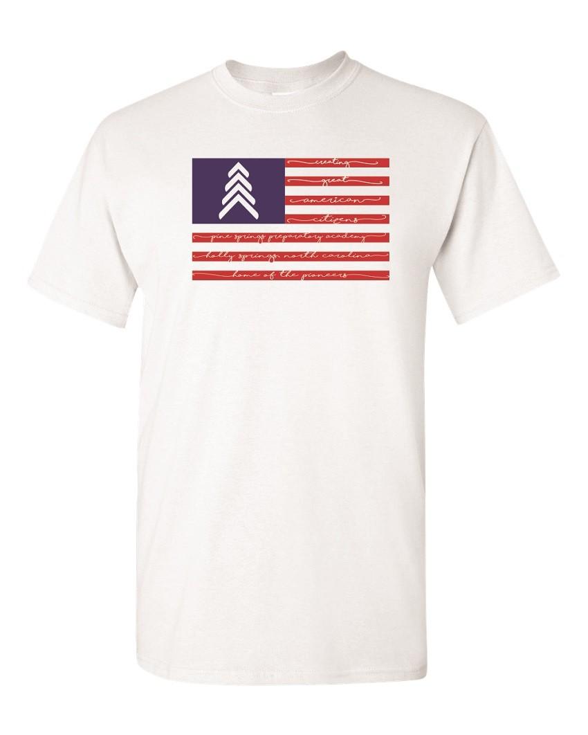 Pine Springs Flag Tees - 100% Ringspun Cotton