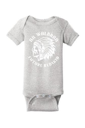 Rabbit Skins Infant Baby Rib Bodysuit - Future Pioneer Logo