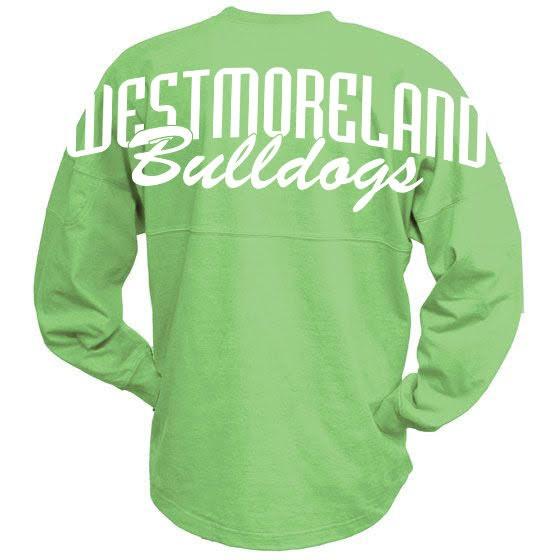 Pennant Billboard Crew Shirt - Bulldog Logo