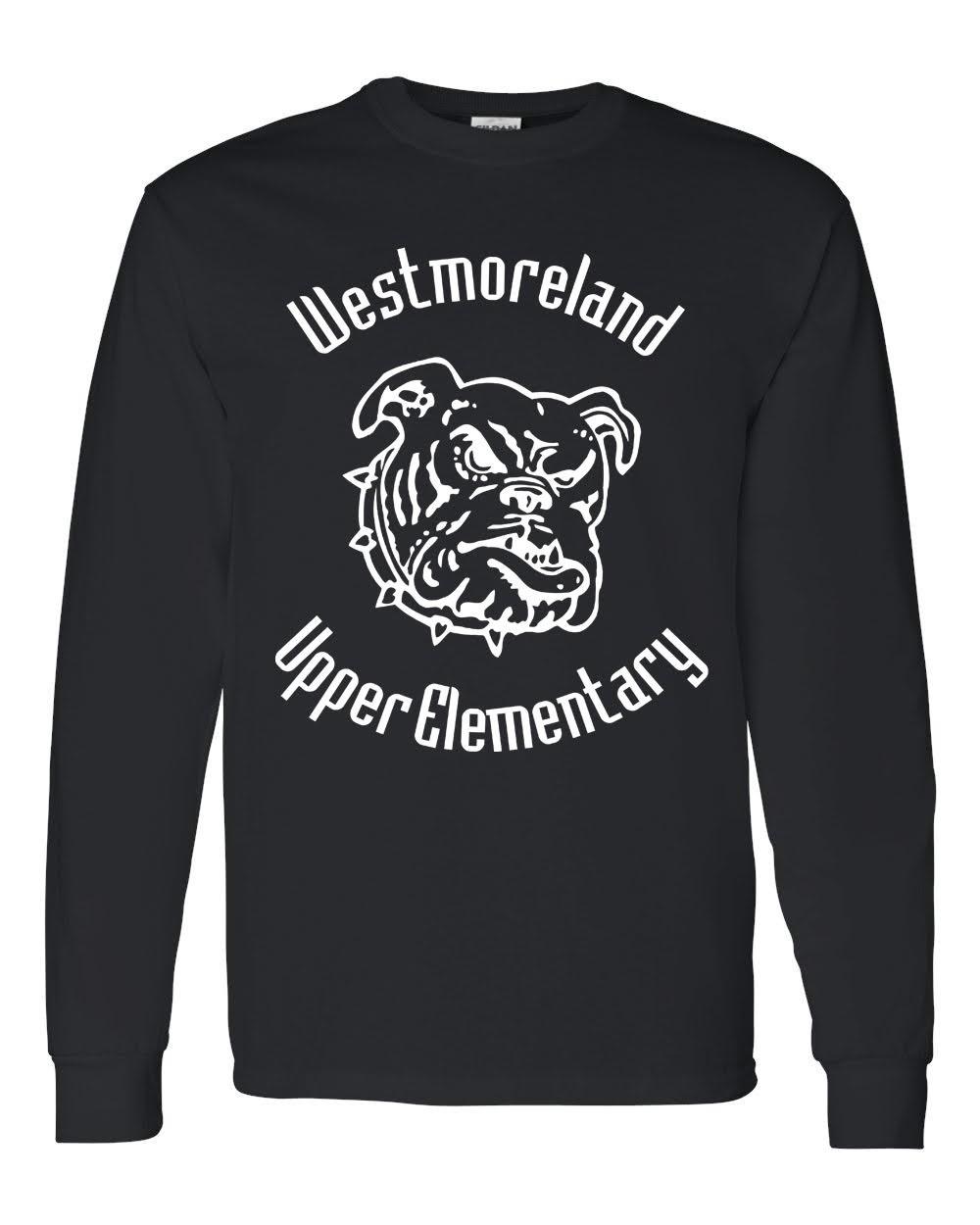 Gildan Bulldog Logo Long Sleeve Tees