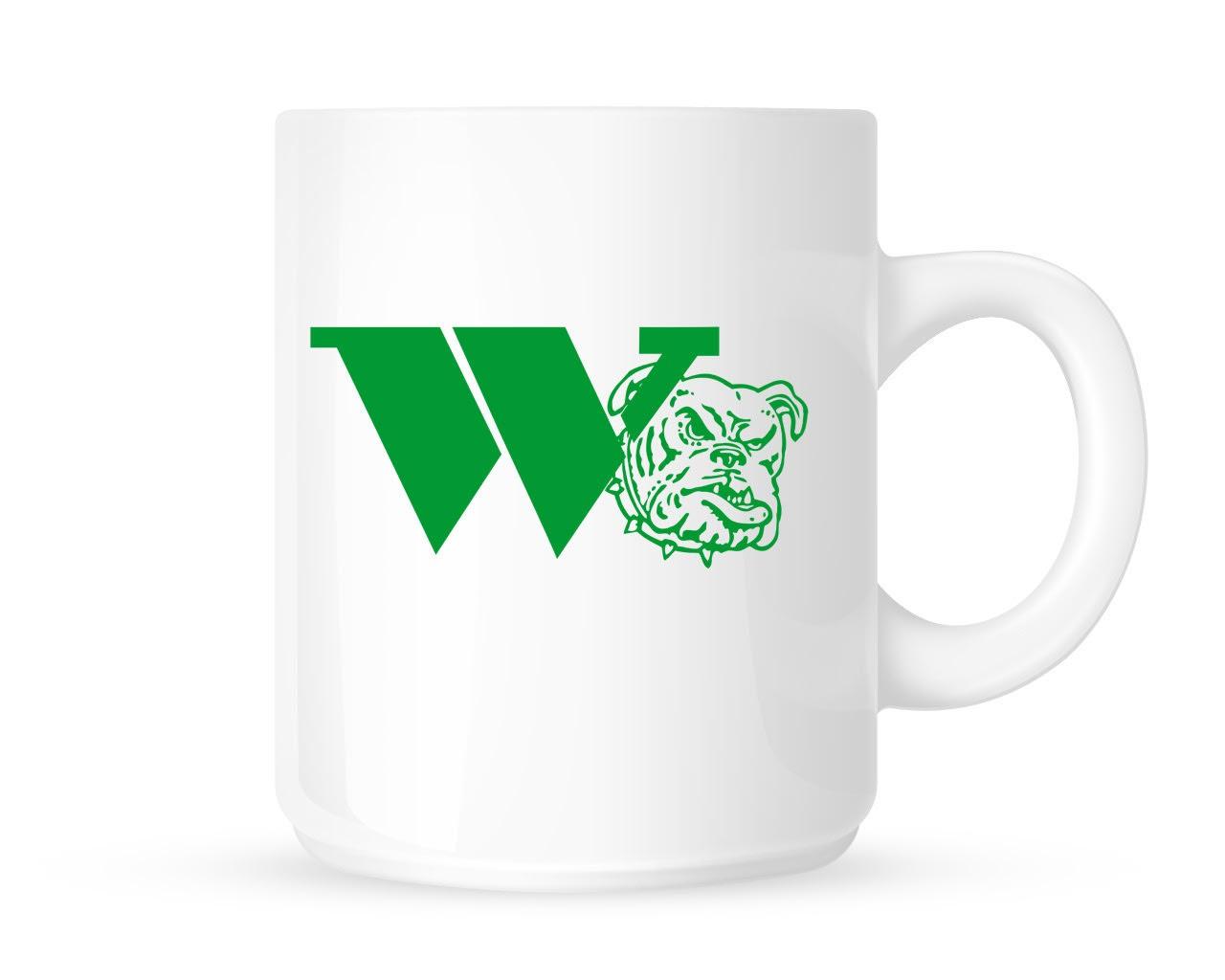 11oz White Ceramic Coffee Mug - Classic Logo