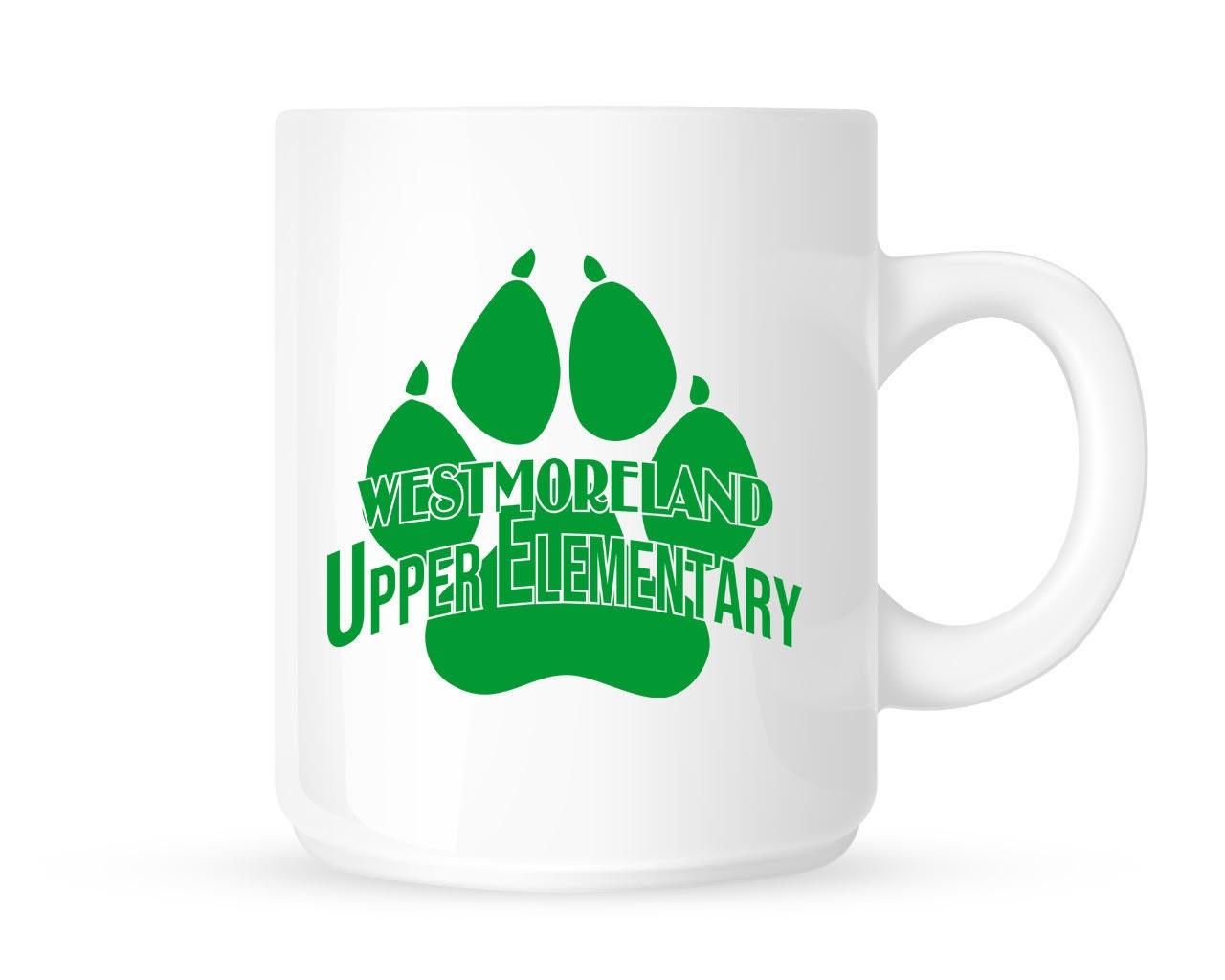 11oz White Ceramic Coffee Mug - Upper Elementary Logo