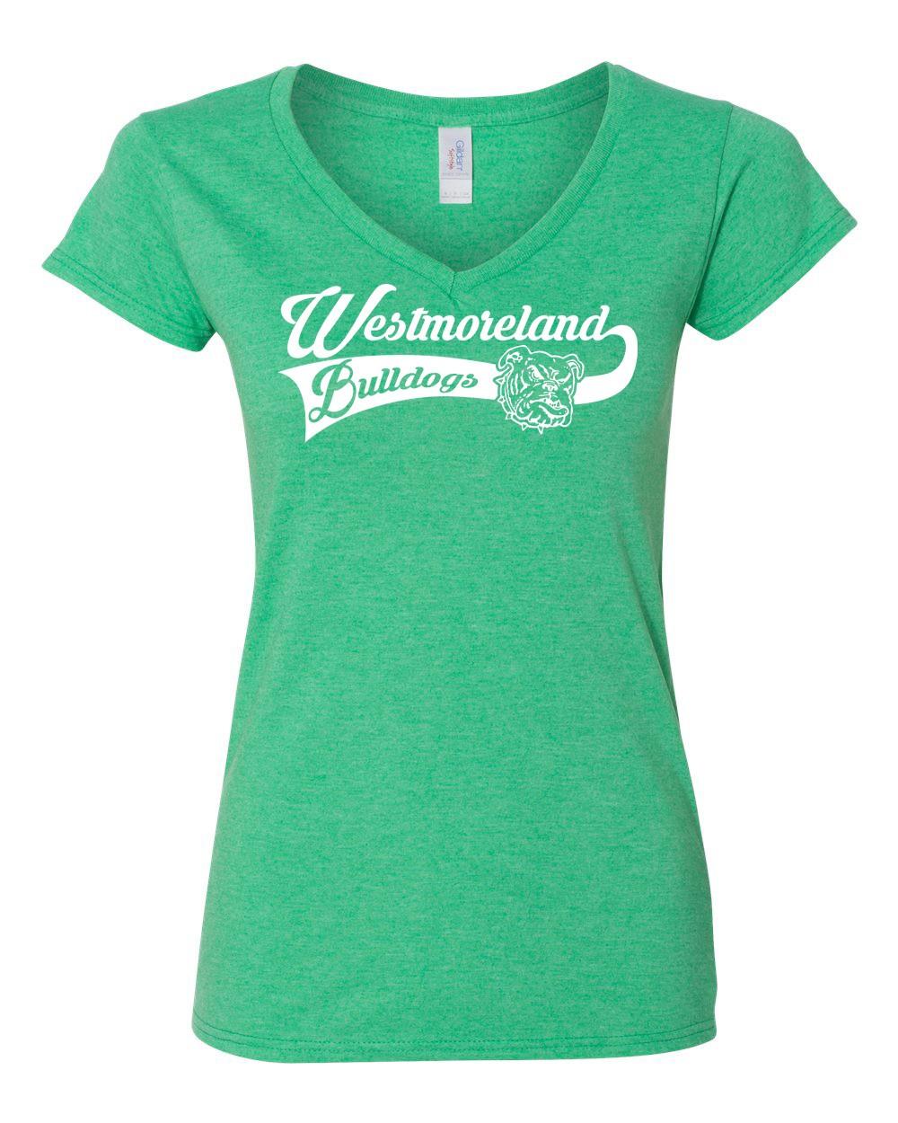 Ladies Westmoreland Swoosh Logo Tees