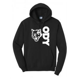 Port & Company® - Core Fleece Pullover Hooded Sweatshirt - Vertical Logo
