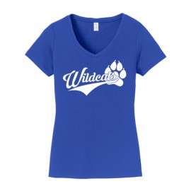 Port & Company® Ladies Fan Favorite™ V-Neck Tee - Wildcats Logo