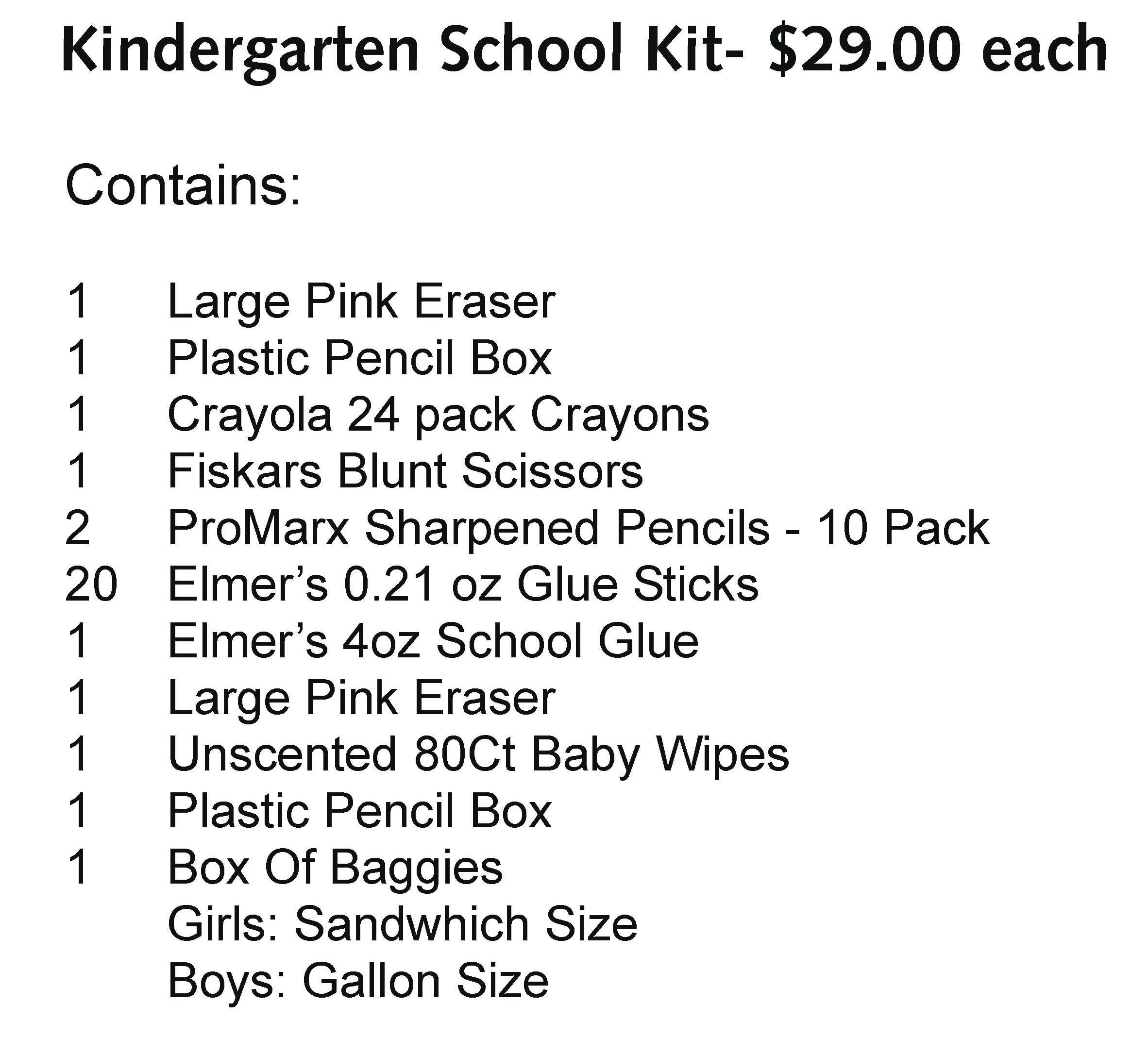 General Herkimer Kindergarten Kit