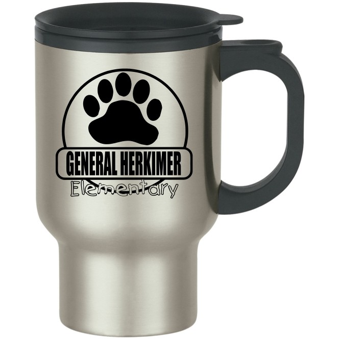 General Herkimer Paw Stainless Steel Travel Mugs