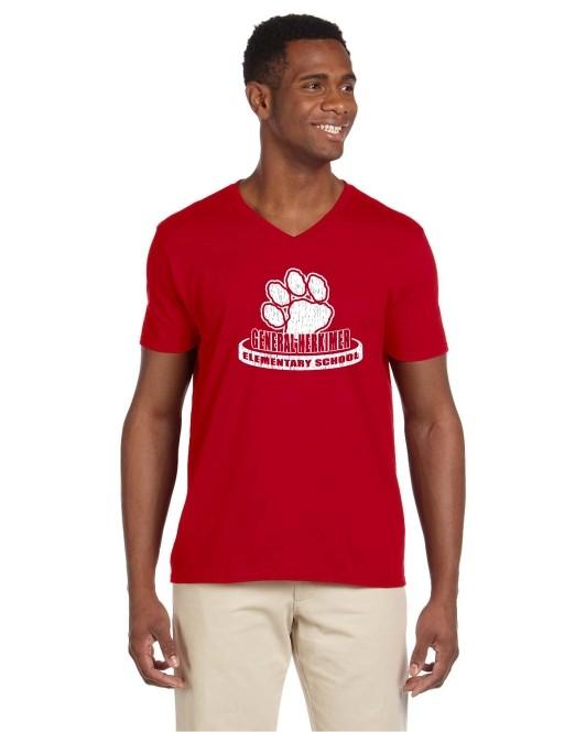 General Herkimer Faded Logo 100% Cotton V-Neck Tees