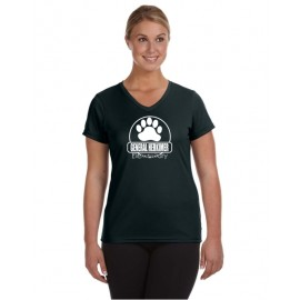 General Herkimer Paw V-Neck Ladies Moisture Wicking Tees