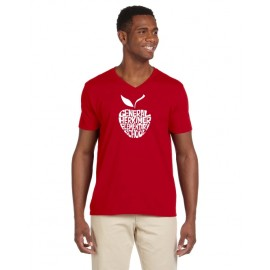 General Herkimer Apple 100%  Cotton V-Neck Tees